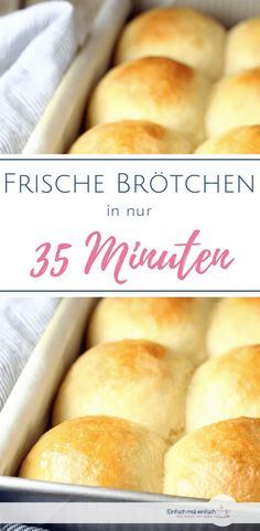 If you're looking for a quick recipe for baking buns, you don't have to resort to a recipe without yeast. These quick rolls are ready in 35 minutes and without preparation. Yeast Free Recipes, Quick Recipes, Bread Recipes, Baking Recipes, Baking Buns, Bread Baking, Chips Au Four, Milk Roll, Quick Rolls