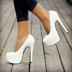 Or these white pumps