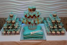 Sweet 16 Pillow Cake with Tiara & Cupcake Favors