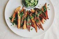 Roasted Sweet Potato Wedges . Bowl & Spoon Launch party