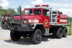 Fort Myers Shores Fire Department (FL)    Brush Truck 81  1977 2.5 Ton AMG    www.setcomcorp.com