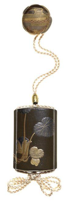 Shibata Zeshin 柴田是真 (1807-1891), Inrō (medicine case) with butterfly design 蕗図蒔絵印籠, Meiji era (1868-1912), circa 1877. Estimate £30,000 – 40,000 (€38,000 – 51,000). Photo: Bonhams With…