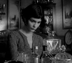 """Amelie has no boyfriend. She's tried once or twice, but the results were a letdown. Instead, she cultivates a taste for small pleasures: dipping her hand into sacks of grain, cracking creme brulee with a teaspoon, and skipping stones at St. Martin's canal."" - Narrator"
