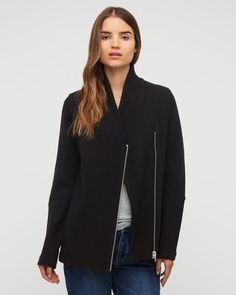 Jigsaw - Boiled Wool Zip Jacket