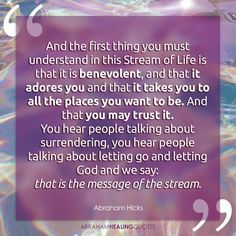 The MESSAGE of the STREAM.. And The First Thing You Must Understand in this Stream of Life, is the Stream of GOD'S Message!! AMEN...
