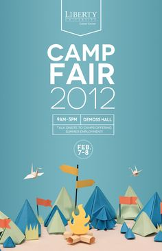 Poster & Flyer Design Liberty University Camp Fair poster (I have to try these p. - POSTER - New education Cool Poster Designs, Creative Poster Design, Poster Design Inspiration, Creative Posters, Graphic Design Posters, Typography Design, Colour Inspiration, Daily Inspiration, Simple Poster Design
