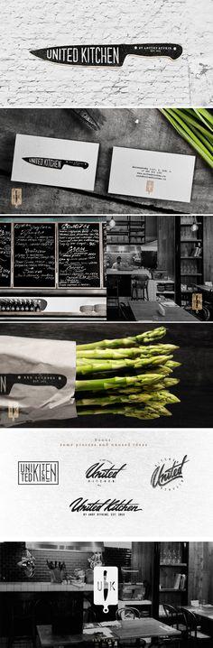 identity / United Kitchen - restaurant | #stationary #corporate #design #corporatedesign #identity #branding #marketing < repinned by www.BlickeDeeler.de | Visit our website: www.blickedeeler.de/leistungen/corporate-design