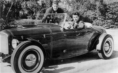 Rick Nelson with his Hot Rod (with brother Dave)