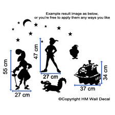 Inspired Peter Pan Kids DIY Removable Wall Art Decal