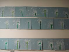 "dandelion art- combine with writing- ""I wish..."", or ""If I flew away on a dandelion seed,"" or tie with lesson on reproduction.  Or read with The Tiny Seed by Eric Carle."