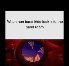 It's more like walk into the band room for us; we got new bulletproof doors haaa.