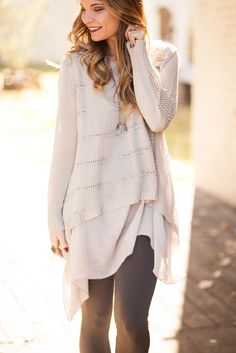 Sweater Weather Long Layered Tunic