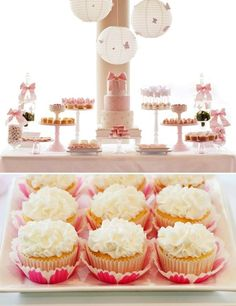#TuFiedtaTip -Mesa de postres utilizando tonos en rosa, propuesta para baby showers, bodas románticas etc.