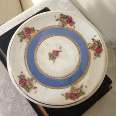 VICTORIAN THICK SMALL ornamental plate, exquisite design. by MerryLegsandTiptoes on Etsy