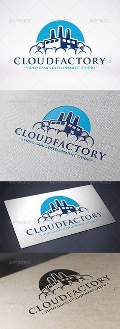 Cloud Factory Logo Template