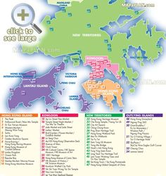 english map list most popular spots favourite points interest to visit museum temple market Hong Kong top tourist attractions map