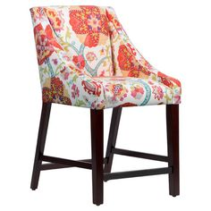 Add a pop of color to your pub table with this eye-catching counter stool, featuring a bold floral print and swooping silhouette.  P...