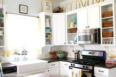 tips + tricks for open shelving | the handmade home
