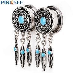 Look what we have: 1Pair Retro Feath... Go to The Bohemian Gypsy and have a look!!!!!! http://lgos-lil-shoppe.myshopify.com/products/1pair-retro-feather-ear-flesh-tunnel-expanders-stainless-steel-leaves-dangle-ear-plugs-gauges-piercing-jewelry-6mm-20mm?utm_campaign=social_autopilot&utm_source=pin&utm_medium=pin