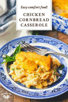Cozy, down-home comfort food! This Farmhouse Chicken Cornbread Casserole is an easy dinner recipe that the whole family will love. The sweet cornbread topping is paired with a creamy, cheesy chicken filling for a classic, hearty supper that will warm you from the inside out. Broccoli Cornbread, Cornbread Casserole, Sweet Cornbread, Casserole Recipes, Cheesy Chicken, How To Cook Chicken, Baked Chicken, Cream Of Chicken Soup, Easy Dinner Recipes