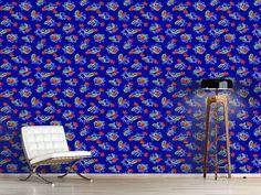 Design #Tapete Paisley Blatt Melange Paisley, Oriental, Rugs, Design, Home Decor, Self Adhesive Wallpaper, Wall Papers, Farmhouse Rugs, Decoration Home