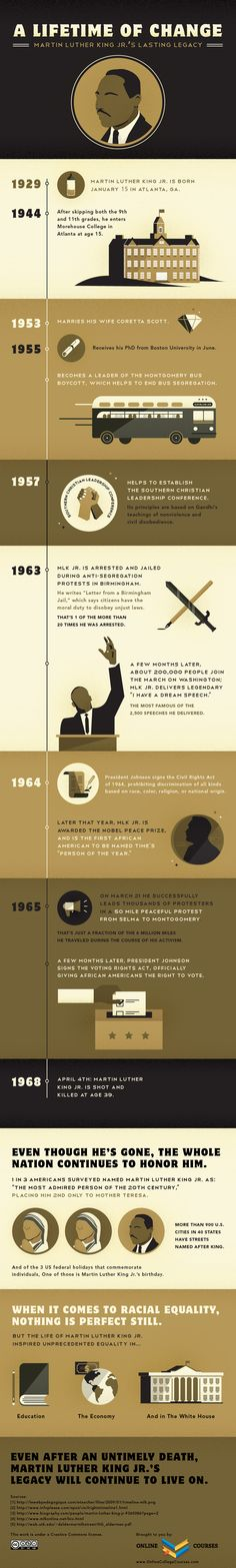 Martin Luther King Jr. - A Lifetime of Change infographic