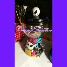 Nightmare before Christmas gumball jar made by NancySinatra 2015.