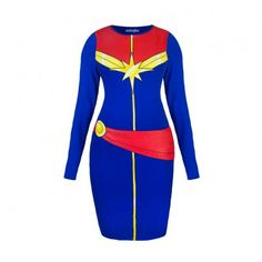 """I Am Captain Marvel"" Body Con Dress from WeLoveFine.com"