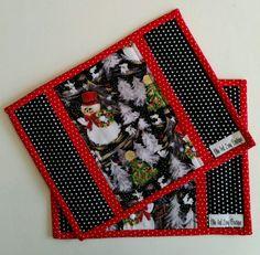Christmas mug rug, Holiday mug rug, Snack mat, Handmade,Ready to Ship,Teachers…