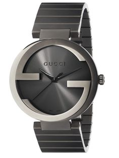d02141d1a86 Gucci Interlocking G Grey PVD Watch Gucci Watches For Men