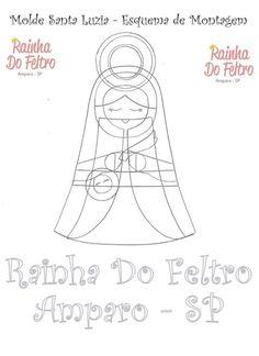 Feltro Fácil: Santa Luzia em Feltro com molde - parte 2
