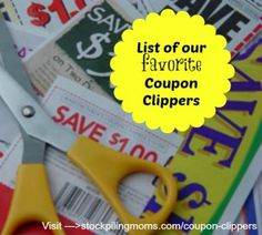 List of our favorite Coupon Clippers