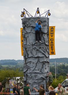 Climbing wall brought by the Army Cadet Force - Thank you