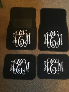 Monogrammed floor mats made by TaylorMadeCreations. Follow us on etsy- TaylrMadeCreation and on Instagram TaylorMadeCreations15, we also have Facebook TMCreation15
