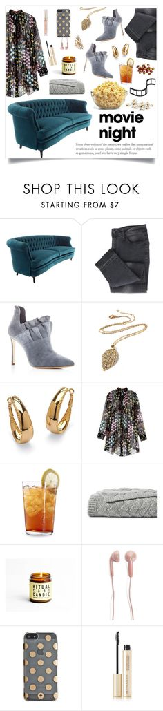 """Movie Night #4"" by linmari ❤ liked on Polyvore featuring Pour La Victoire, Amrita Singh, Palm Beach Jewelry, Valentino, Schott Zwiesel, Lands' End, Forever 21, Kate Spade, Kevyn Aucoin and Stila"