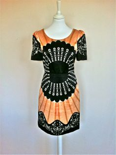 Temperley London Abricot Print Silk and Cotton Dress via The Queen Bee. Click on the image to see more!
