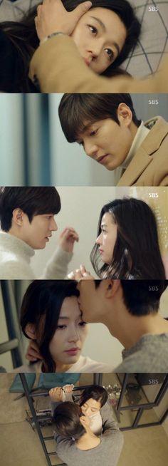 "[Spoiler] ""The Legend of the Blue Sea"" Lee Min-ho and Jeon Ji-hyeon kiss"