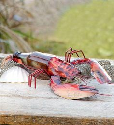 $19.99-Recycled Bottle Lobster 14 LONG X 7 WIDE X 2 HT