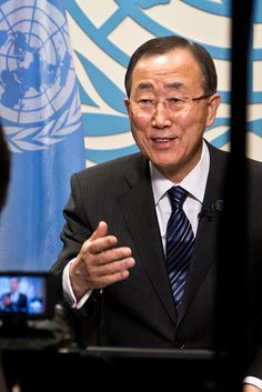 Google+ Hangout with Ban Ki-moon, via Flickr.