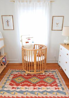 Modern Colorful Baby Girl Nursery | Stokke Sleepi Crib
