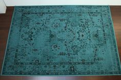 7 10 x 10 10 Teal Overdyed Rug 1