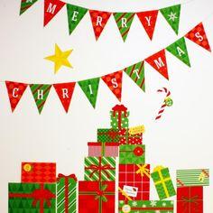簡単・無料ダウンロードのクリスマスウォールステッカー!✧*。ヾ(。>﹏<。)ノ゙✧*。 飾りつけのポイントに、紙なので軽くてカワイイんです〜♪ Green Christmas, Christmas Crafts, Merry Christmas, Christmas Tree With Presents, Cool Lettering, Xmas Party, Xmas Decorations, Christmas Inspiration, Holidays And Events
