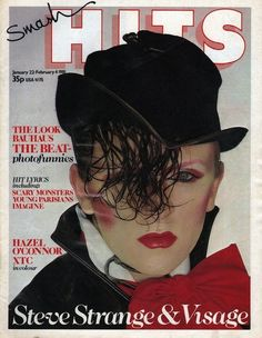 Visage, January 1981. | 23 Amazing Smash Hits Covers From The80s