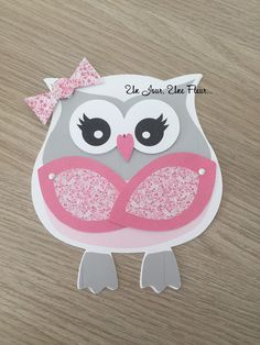 Share in the shape of OWL – Best Pins Live Diy Invitations, Baby Shower Invitations, Baby Cards, Kids Cards, Diy Birthday, Birthday Cards, Diy And Crafts, Crafts For Kids, Owl Card