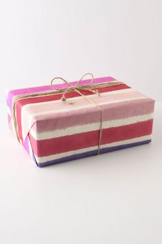 Painted Stripes Wrapping Paper
