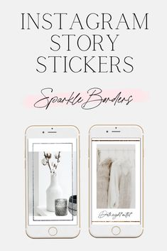 Add some fun sparkle glitter borders and frames to your Instagram stories! - Blush Created