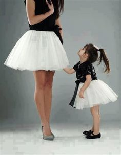 Stylish mother  doughter