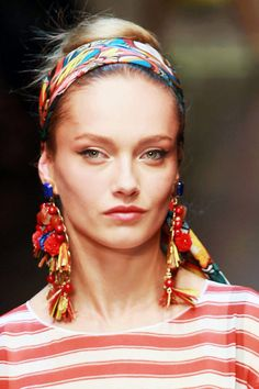 Gypsy Soul  The bohemian spirit was alive on runways from Gucci to Tory Burch — from colorful beaded necklaces to shoulder-grazing earrings, they are the statement pieces next season.    Dolce & Gabbana Earrings - Spring 2013 Accessories Trends - Harper's BAZAAR