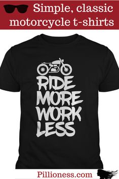 Wouldn't you love to wear this motorcycle tshirt on a Monday morning. Your boss will be thrilled, too. Touring Bike, Motorcycle T Shirts, Monday Morning, Bikers, Shirt Outfit, Funny Tshirts, Shirt Style, Motorcycles, Shirt Designs