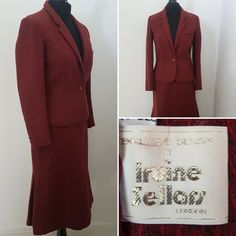 Condition is Used. Length Neck to hem (back) Land Girls, Retro Outfits, Skirt Suit, Vintage Dresses, Blazer, Suits, Lady, Clothing, Fashion